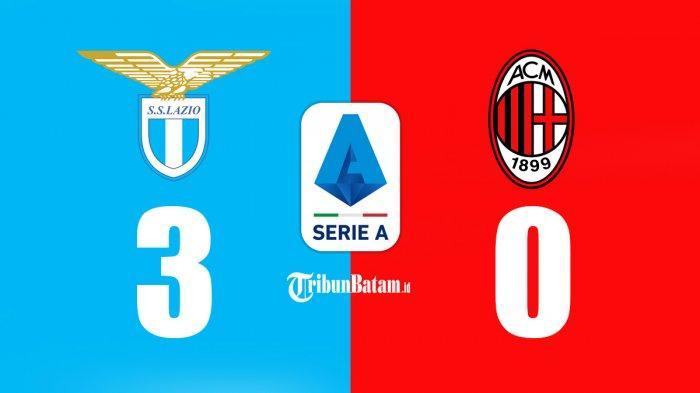 Hasil Lazio vs AC Milan - AC Milan kalah 0-3 dari Lazio dan terlempar ke peringkat 5 klasemen Liga Italia