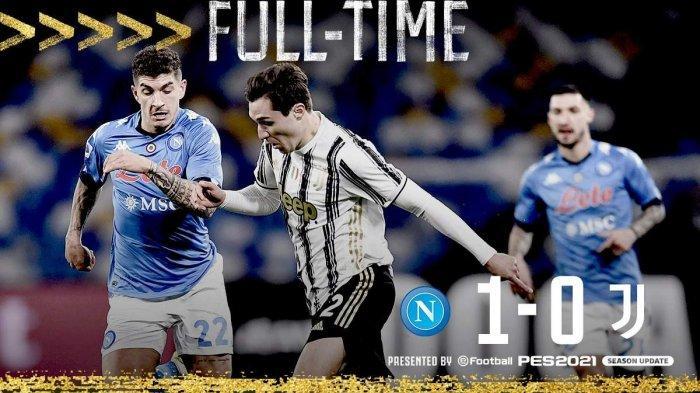 Hasil Liga Italia Napoli 1-0 Juventus di pekan 22 Liga Italia, Sabtu (13/2/2021)