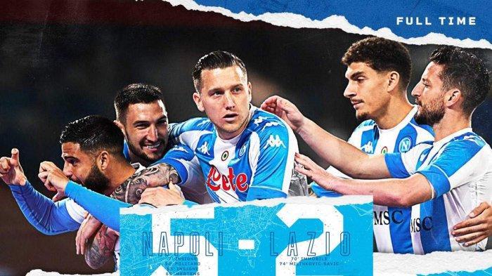 Hasil Napoli vs Lazio, Lorenzo Insigne Cetak 2 Gol di Pesta 5 Gol Napoli, Napoli Menang