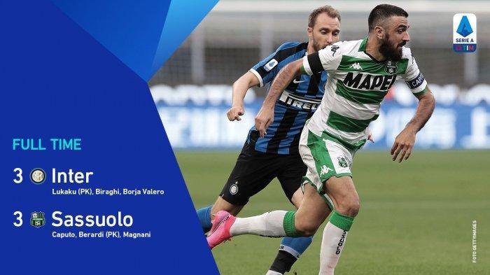 Hasil Liga Italia Inter Milan vs Sassuolo, Drama 6 Gol di Giuseppe Meazza Berakhir Seri, Conte Marah
