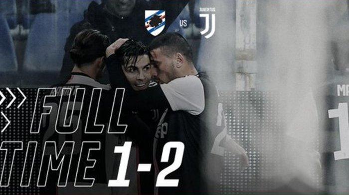 Hasil Liga Italia Sampdoria vs Juventus, Gol Tandukan Cristiano Ronaldo Menangkan Juve
