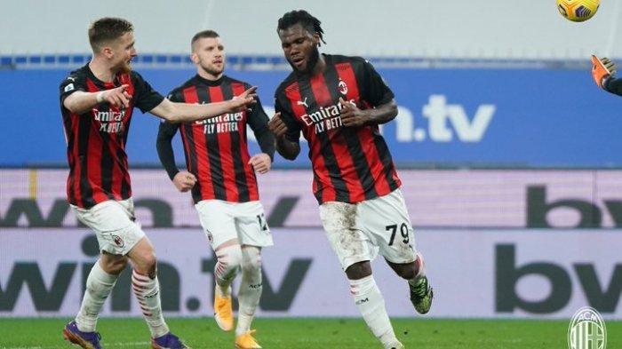 Hasil Liga Italia - Tanpa Ibrahimovic, AC Milan Kalahkan Sampdoria 2-1, Rossoneri Kokoh Dipuncak