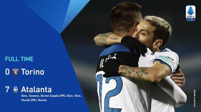 Hasil Liga Italia Torino vs Atalanta, Sensasional, Atalanta Pesta 7 Gol ke Gawang Torino