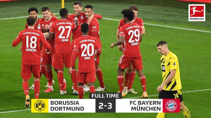 Hasil Liga Jerman Borussia Dortmund vs Bayern Muenchen, Drama 5 Gol Der Klassiker Milik Munchen