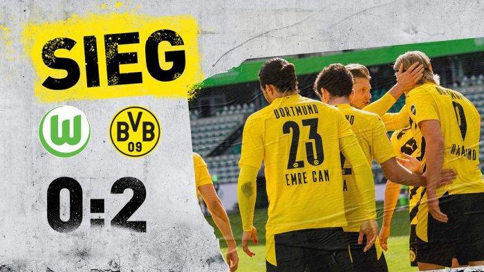 Hasil Wolfsburg vs Dortmund, Erling Haaland Cetak 2 Gol, Borussia Dortmund Menang