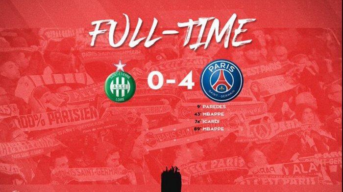 Hasil Liga Prancis Saint-Etienne vs PSG, Kylian Mbappe Sumbang 2 Gol, PSG Menang Telak 4-0