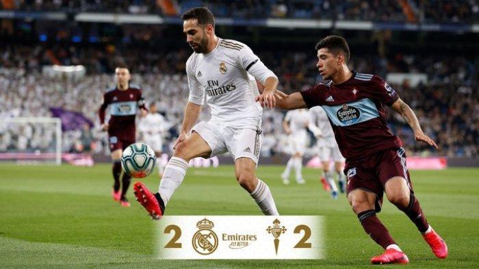 Hasil Liga Spanyiol Real Madrid vs Celta Vigo, Los Blancos Ditahan Imbang Celta Vigo