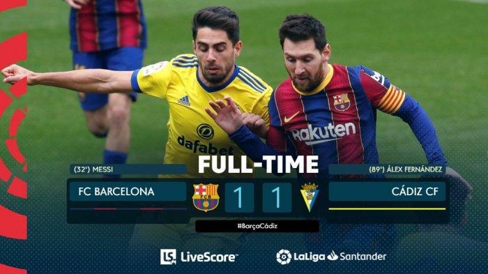 Hasil, Klasemen, Top Skor Liga Spanyol Setelah Madrid Menang, Barcelona Imbang, Lionel Messi 16 Gol