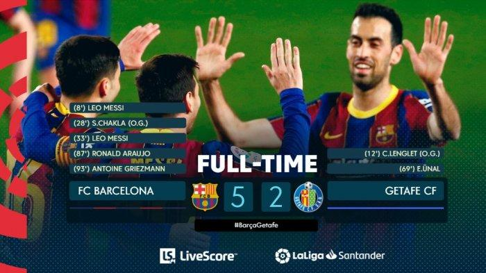 Hasil, Klasemen, Top Skor Liga Spanyol Setelah Atletico Menang Barcelona Menang, Lionel Messi 25 Gol