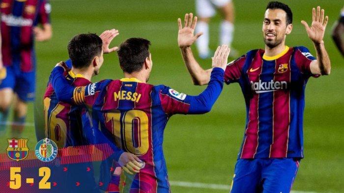 Hasil Barcelona vs Getafe, Lionel Messi Seharusnya Hattrick Saat Barcelona Menang 5-2 Lawan Getafe