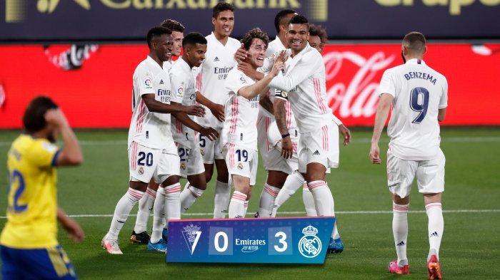 Hasil Cadiz vs Real Madrid, Karim Benzema 2 Gol, Alvaro Odriozola 1 Gol, Real Madrid Menang
