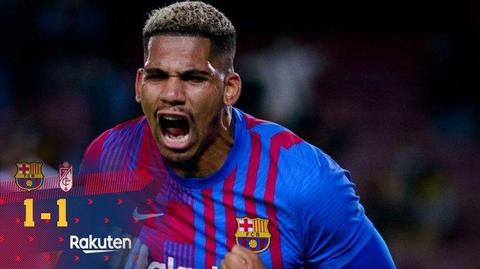Hasil Barcelona vs Granada, Gol Ronald Araujo Jelang Akhir Laga Selamatkan Barca