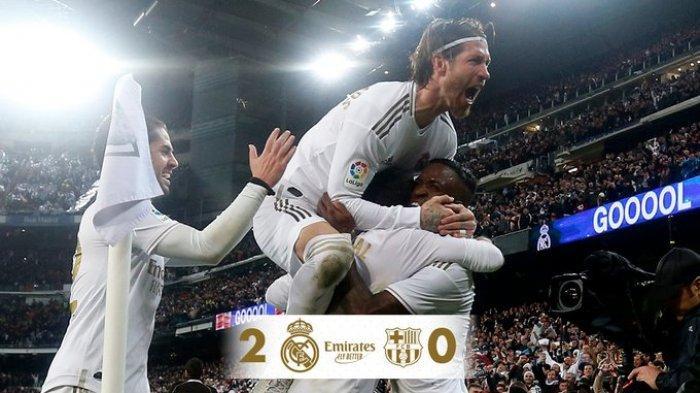 Hasil Liga Spanyol Real Madrid vs Barcelona, 2 Gol dari Pemain Muda, Real Madrid Menangi El Clasico