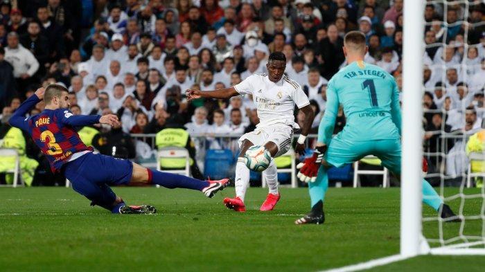 Hasil Liga Spanyol Real Madrid vs Barcelona, Vinicius Pecahkan Rekor Messi, Los Blancos Menang 2-0