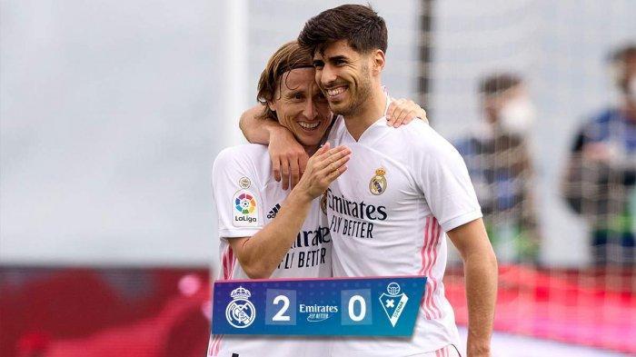 Hasil Real Madrid vs Eibar, Marco Asensio dan Karim Benzema Cetak Gol, Real Madrid Menang