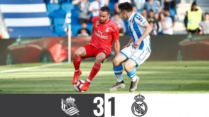 Hasil Liga Spanyol Real Sociedad vs Real Madrid, Brahim Diaz Cetak Gol Cepat, Real Madrid Kalah