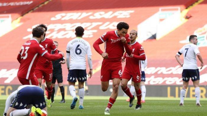 Hasil Liga Inggris - Bungkam Aston Villa 2-1, Liverpool Putus Rekor Tak Pernah Menang Dikandang