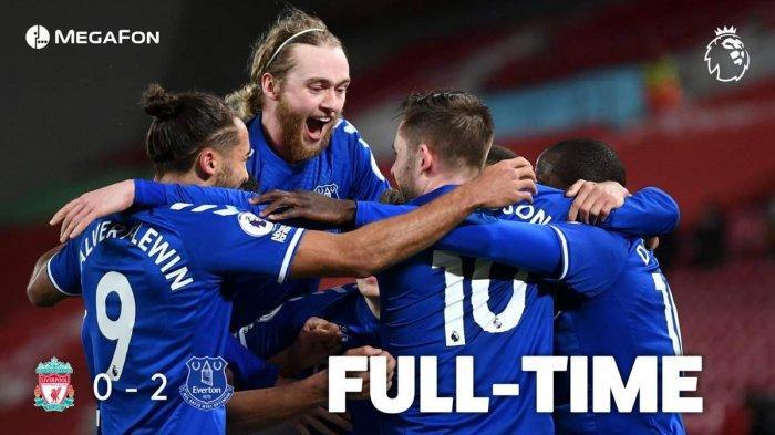 Hasil Liga Inggris Liverpool vs Everton, Richarlison & Sigurdsson Cetak Gol, Liverpool Kalah Lagi