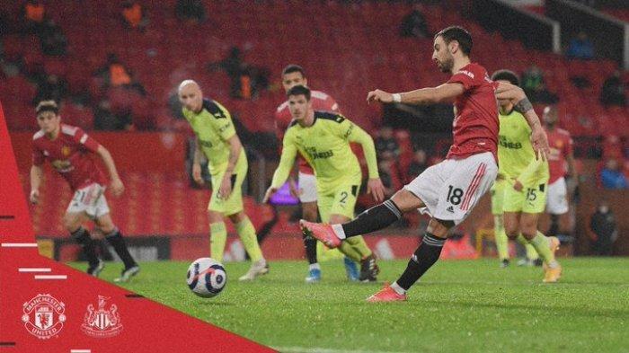 Hasil Liga Inggris - Man United Gilas Newcastle 3-1, Bruno Fernandes Samai Torehan Eric Cantona