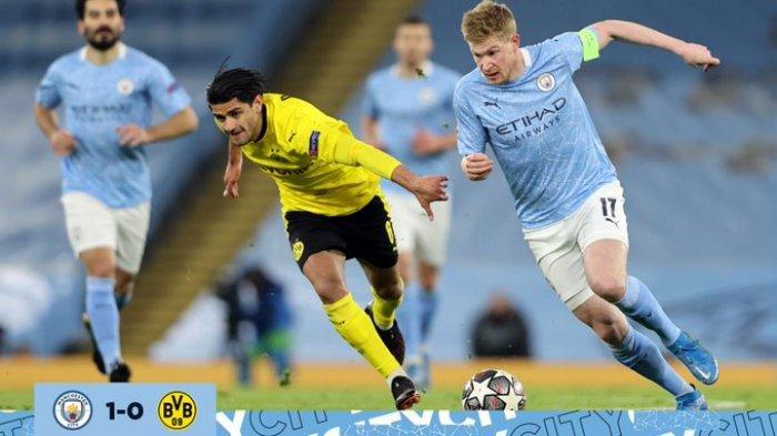 Hasil Liga Champions - Menang Dramatis! Gol Menit Akhir Bawa Kemenangan Man City atas Dortmund