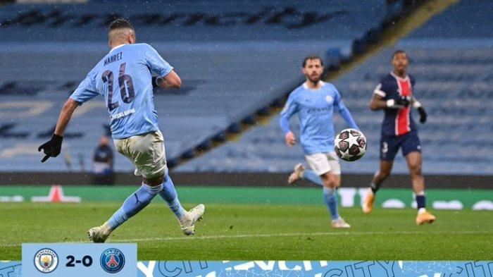 Hasil Liga Champions Man City vs PSG, Brace Riyad Mahrez Antarkan The Citizens ke Final