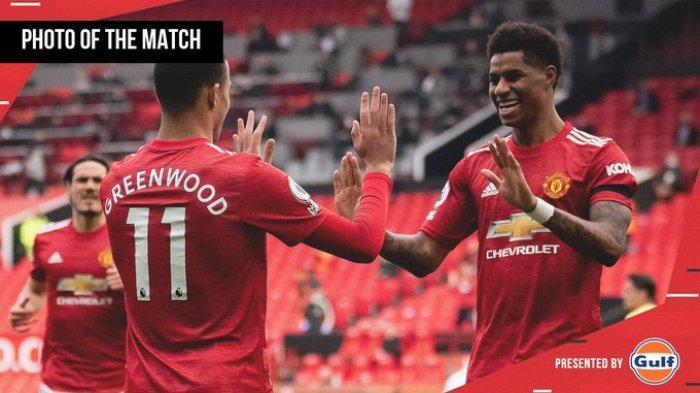 Hasil Liga Inggris Man United vs Burnley, Mason Greenwood Brace, MU Kalahkan Burnley 3-1