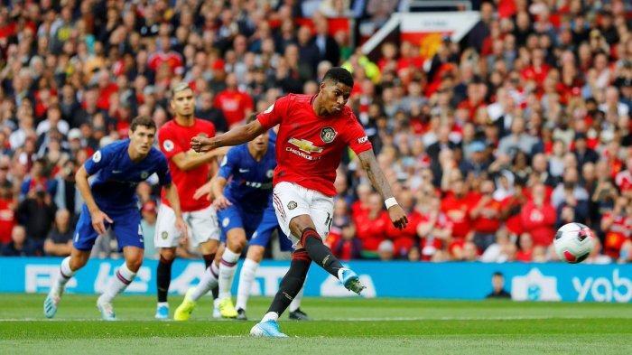 Hasil Manchester United vs Chelsea, Penalti Rashford Bawa Red Devils Unggul di Babak Pertama
