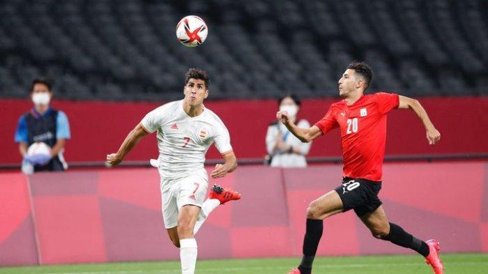 Hasil Sepak Bola Olimpiade Tokyo 2020 - Bertabur Pemain Bintang, Spanyol Ditahan Imbang Mesir