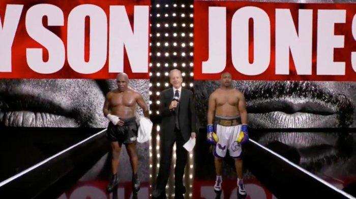 Hasil Mike Tyson vs Roy Jones Jr berakhir dengan skor imbang, Minggu (29/11/2020)