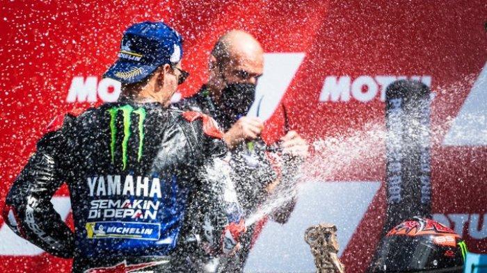 Hasil MotoGP Belanda 2021 - Quartararo Juara, Vinales Kedua, Valentino Rossi Terjatuh