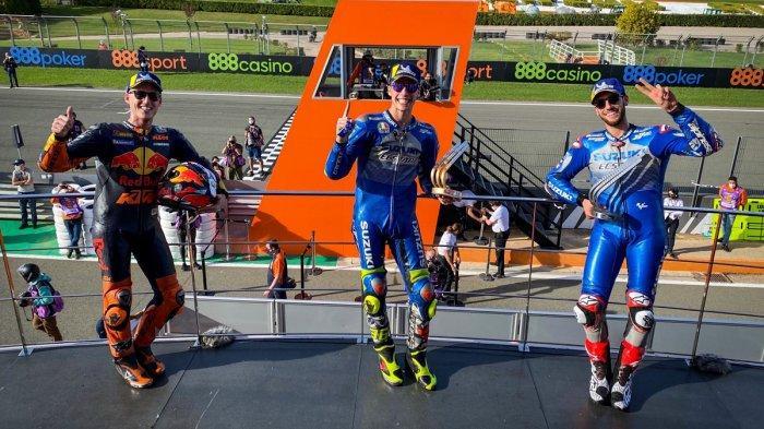 Hasil MotoGP Eropa 2020, Joan Mir Akhirnya Raih Raih Podium 1, Panggung Dikuasai Duo Suzuki Ecstar