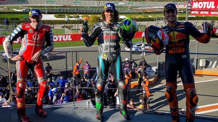 Hasil MotoGP Valencia 2020, Franco Morbidelli Podium 1, Valentino Rossi 12, Joan Mir Juara Dunia