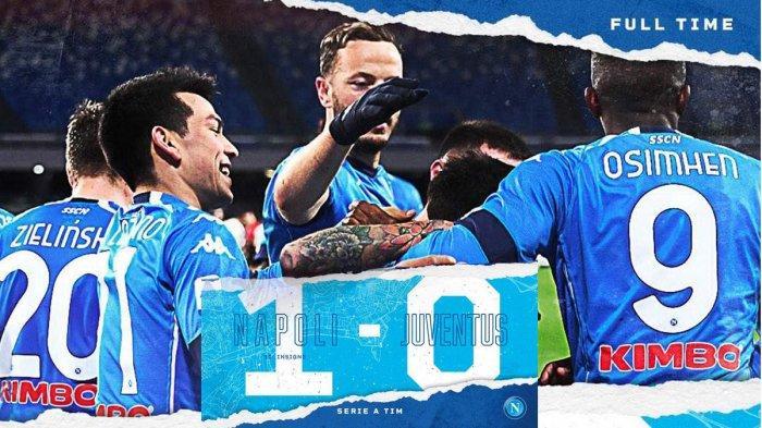 Hasil Liga Italia Napoli vs Juventus, Gol Penalti Lorenzo Insigne Menangkan Napoli, Juventus Kalah