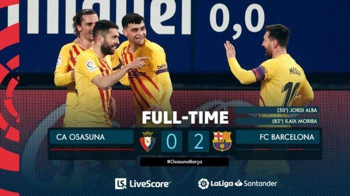 Hasil, Klasemen, Top Skor Liga Spanyol Setelah Barcelona Menang, Sevilla Kalah, Lionel Messi 19 Gol