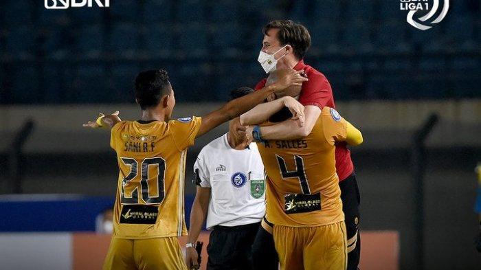 Hasil Persebaya vs Bhayangkara FC, Diwarnai Kartu Merah, Bajul Ijo Tumbang 0-1