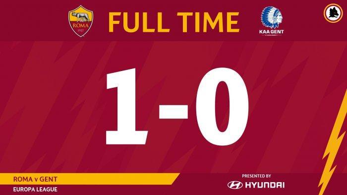 Hasil Liga Europa AS Roma vs Gent, Roma Menang Tipis Lewat Gol Pemain Pinjaman dari Barcelona