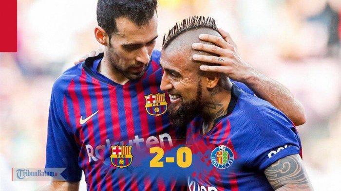 Hasil Liga Spanyol Barcelona vs Getafe, Tak Ada Gol dari Lionel Messi, Barcelona Menang 2-0