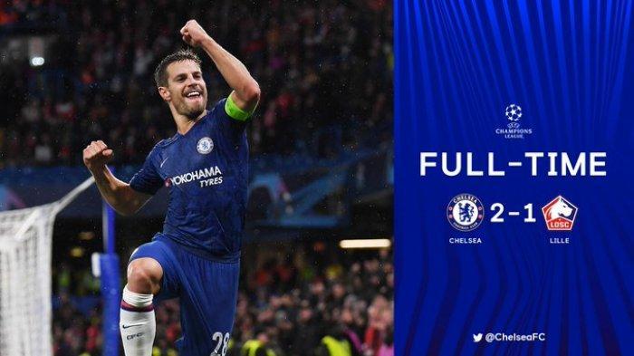Hasil Liga Champions Chelsea vs Lille, Menang 2-1, Chelsea Lolos ke Babak 16 Besar, Ajax Tersingkir