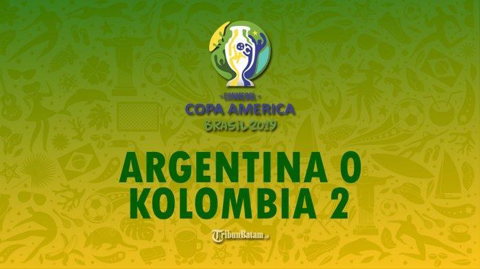 Hasil Copa America 2019, Kalah 0-2 Kolombia, Kekalahan Terburuk Argentina di Copa dalam 40 Tahun