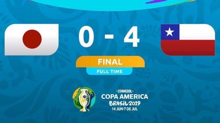 Hasil Copa America 2019 Jepang vs Chile, Chile Pesta 4 Gol, Alexis Sanchez Cetak 1 Gol, 1 Assist