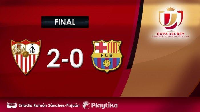 Hasil Copa de Rey Liga Spanyol Sevilla vs Barcelona - Kevin Prince-Boateng Debut, Barcelona Kalah