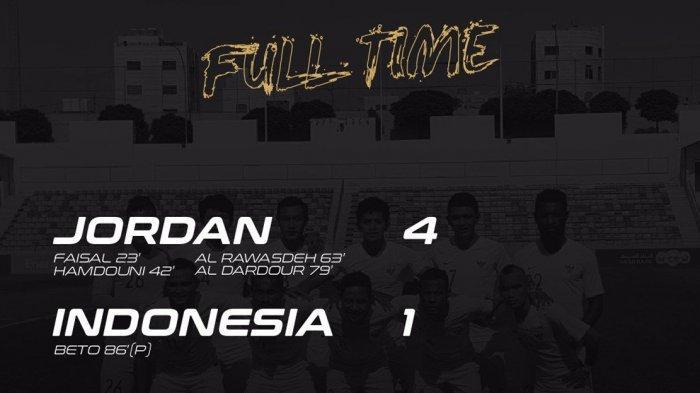 Timnas Indonesia Kalah 1-4 vs Jordania, Ini Dampaknya Saat Undian Kualifikasi Piala Dunia 2022