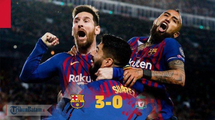 Hasil Liga Champions Barcelona vs Liverpool, The Reds Tak Berdaya di Nou Camp, Barcelona Menang 3-0