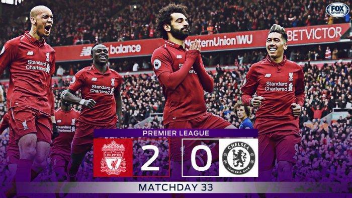 Hasil Liga Inggris Liverpool vs Chelsea - Sadio Mane & Mohamed Salah Cetak Gol, Liverpool Menang