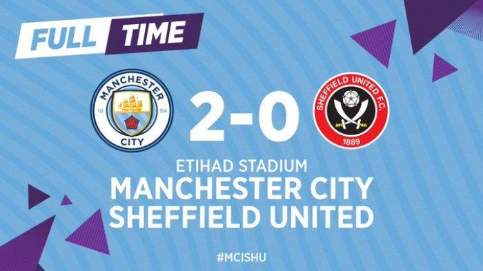 Hasil Liga Inggris Manchester City vs Sheffield, Man City Menang, Dua Gol dari Aguero - De Bruyne