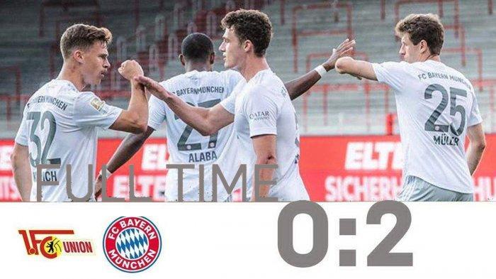 Hasil Liga Jerman, Union Berlin vs Bayern Muenchen, Lewandowski Sumbang 1 Gol, Munchen Menang