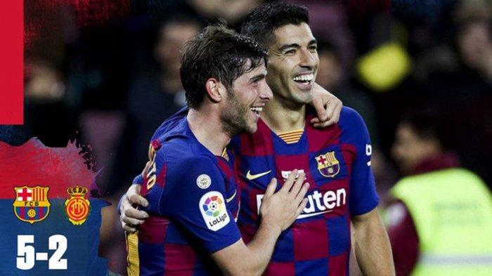 Hasil Liga Spanyol Barcelona vs Mallorca, Lionel Messi Hattrick, Barca Menang 5-2