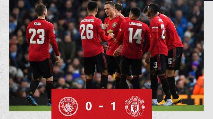 Hasil Carabao Cup Piala Liga Inggris Man City vs Man United, Setan Merah Menang, Tapi Gagal ke Final
