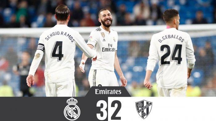 Hasil Liga Spanyol Real Madrid vs Huesca, Karim Benzema Cetak Gol Jelang Laga Usai, Madrid Menang