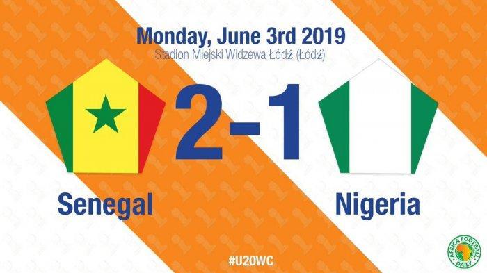 Hasil Piala Dunia U20, Senegal vs Nigeria -  Gol Amadou Sagna & Ibrahima Niane Menangkan Senegal